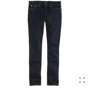 J Crew ever stretch toothpick jean in resin rinse